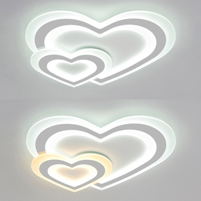 Ultra-Thin Baby Bedroom LED Flush Ceiling Light in Star/Moon and Star/Cloud/Loving Heart  Shape
