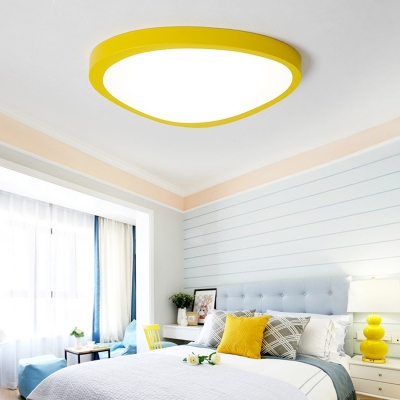 Triangle Flush Mount Lighting Contemporary Colorful Acrylic Ceiling Fixture for Bedroom Corridor