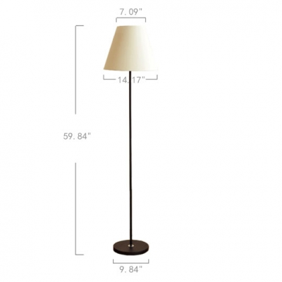 Tapered 1 Light Floor Light Contemporary Fabric Standing Light for Sitting Room Bedroom