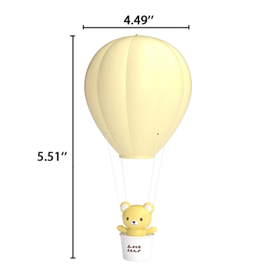 Hot Air Ballon Yellow/Pink Kids Ceiling Pendant Night Light with Touch/Remote Control