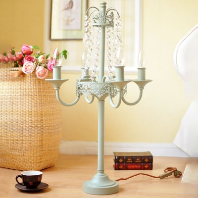 Modern Living Room Kids Crystal Chandelier Table Lamp Girls Table Lamp