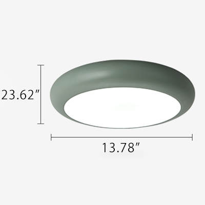 Metal Round Flush Light Fixture Macaron Nordic Colorful Kids Children Room LED Flush Mount