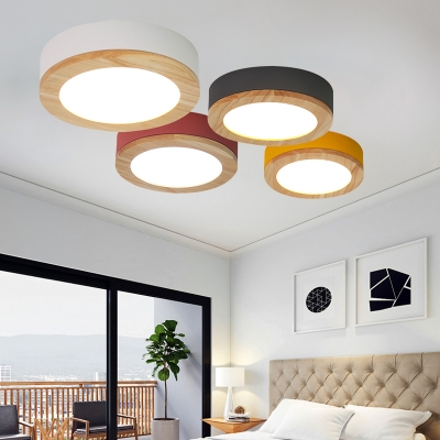 Acrylic Round Led Ceiling Fixture Simple Contemporary