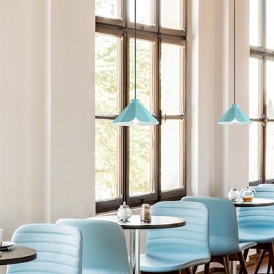 Single Head LED light Adjustable Ceiling Pendant in Blue/Orange/Green Finish