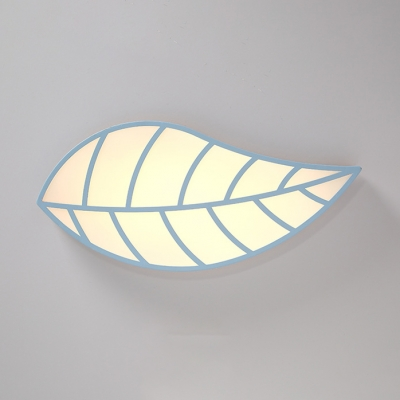 Blue/White Leaf Shape Flushmount Nordic Modern Acrylic LED Ceiling Fixture for Corridor Porch