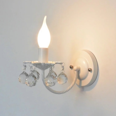 Modern Crystal Wall Light Staircase Wall Sconce Candle Style Wall Lamp with Crystal Balls