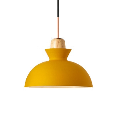 Modern Simple Style LED Light Hanging Fixture for Small Living Room (Yellow/Grey/White/Pink/Green)