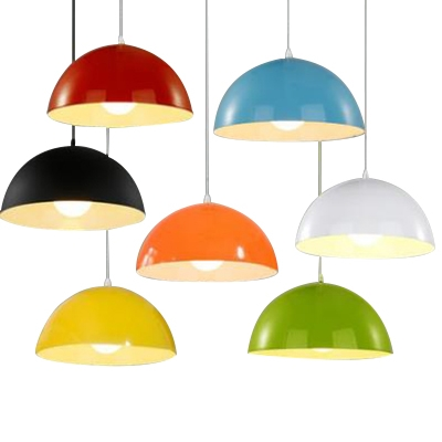 Baycheer / Multicolor Modern Restaurant Living Room 1 Light Pendant Lamp with Dome Shade Various Inches for Option
