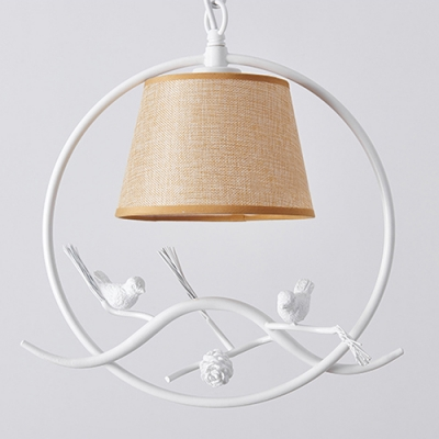 Stainless Steel Chain Haning Single Pendant Light with Cylinder Shde