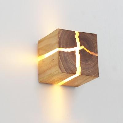 Touch Sensing Wooden Cracking LED Night Light for Corridor Stairway