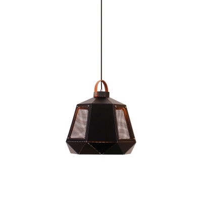 Black/White Wire Mesh Single Hanging Fixture for Coffee House Dining Room