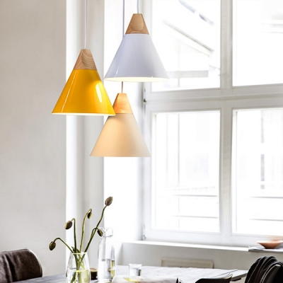 Conical Shade Adjustable Mini Pendant Light in Modern Style Various Colors for Option