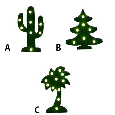Cactus Christmas Tree.Green Cactus Christmas Tree Palm Tree Led Kids Night Light 3 Style For