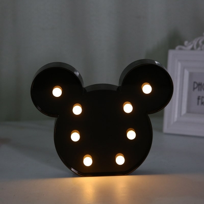 Plastic LED Anchor/Mouse/Butterfy/Cup Shape Plastic Decorative Kids Night Light Portable