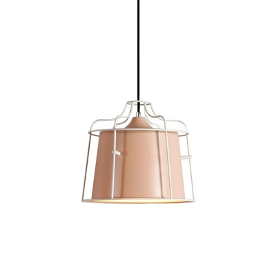 1-Light Metal Frame Hanging Light Fixture in Contemporary Style 5 Colors for Choice