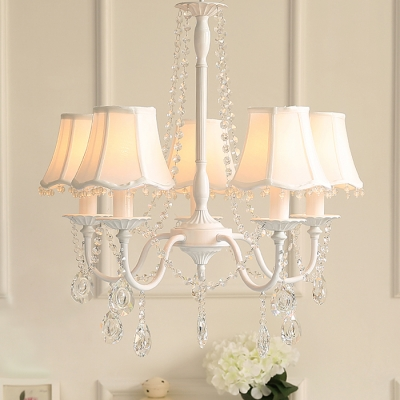Modern Crystal Chandelier 5 Light Shaded Chandelier Foyer Lighting (4 colors available)