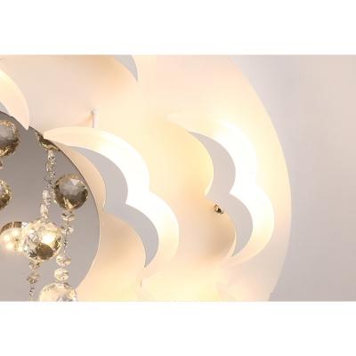 Modern Led Flush Mount Light Crystal Ball Flushmount Ceiling Light for Living Room Dining Room