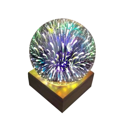 Portable Colorful Meteor Shower 3D Kids Night Light in Glass