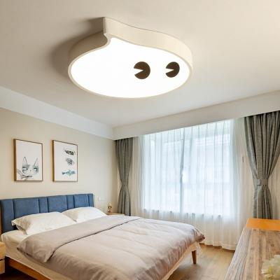 Small LED Cartoon Flush Mount Ceiling Lamp for Kids Bedroom