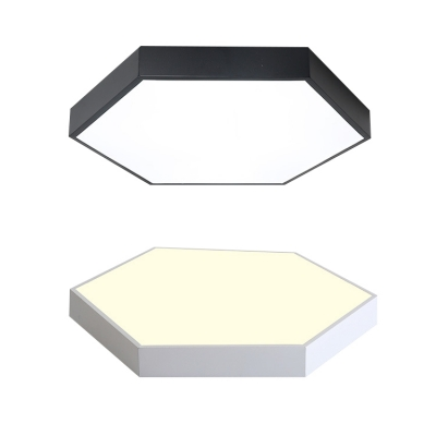Hexagon Flush Light Colorful Macaron Acrylic Flush Mount Lighting for Bedroom in Warm/White