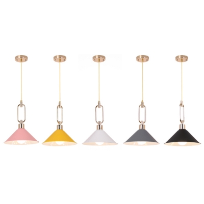 "Image of ""10.24""""W 12.99""""H Contemporary Style Single Bulb Hanging Pendant Lighting in Various Colors"""
