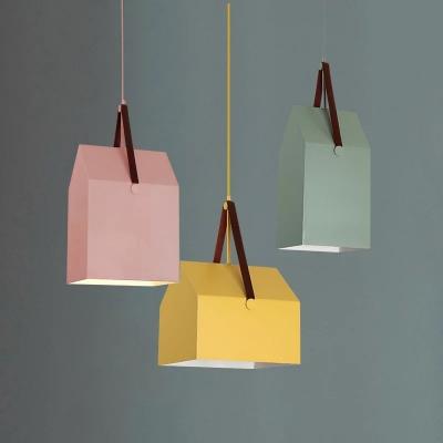 3 Lights Geometric Shade Suspended Light Modernism Children Room Metal Pendant Light in Multi Color
