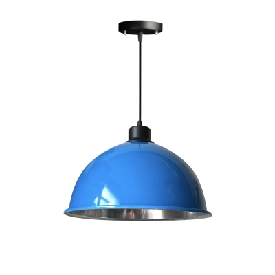 One Light Metal Dome Shade Ceiling Pendant Lamp for Dining Room(Six Colors for Choice)