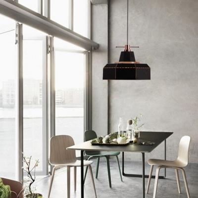 Art Decor Style Black/White Finish Single Head Hanging Lamp for Restaurant Dining Hall