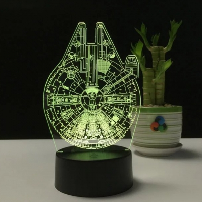 Button Switch/Usb Touch/Remote 3D Plastic Acrylic Magic Matrix/Star War Night Light for Boys Bedroom