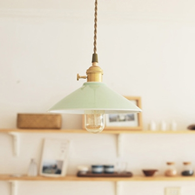Ceramic Shade One-Light Mini Hanging Lamp in Simple Style 5.5