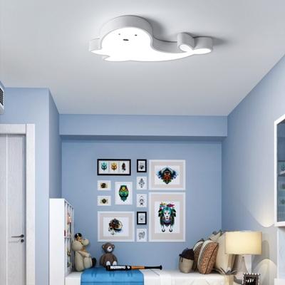 Children Bedroom LED Cartoon Fish Ceiling Light 22.83Inch