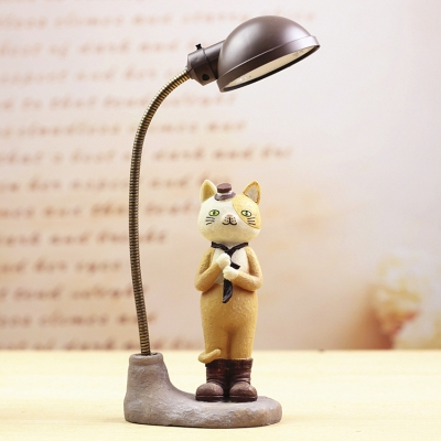 Resin Cartoon Cat LED Kids Bedroom Night Light for Reading 3 Style for Option to Random Delivery