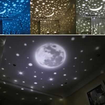 Romantic Magic Girls Room Nebula Projector Night Light with/without Rotating Function