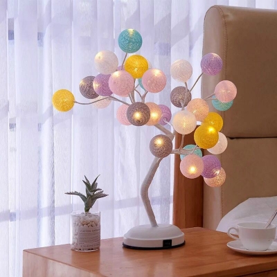 Romantic Starry Tree Girls Bedroom Decorative Night Light USB/Battery Operated