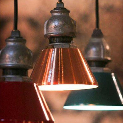"""Vintage Industrial Style 5.51""""/7.84""""W Metal Pipe Ceiling Pendant Light Various Colors for Option, HL478890, Black;gold;green;red;bronze;rust"""