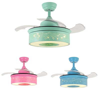 Fashion style ceiling fans kids lighting beautifulhalo 1418 inch creative fancy reversible ceiling fan for kids in greenpinkblue with aloadofball Gallery