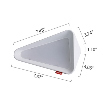 Gray/White Triangle Shape Chargeable LED Night Light for Reading