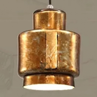 Heavy Industrial Style 1-Light Weathered Brass Pendant Lamp for Restaurant Dining Room 4 Designs for Option