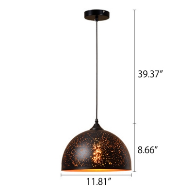Industrial Style Weathered Iron Shade Single Pendant Lamp with Adjustable Chain 7 Designs for Choice
