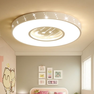 Modern Led Round Star Cloud Shade Kids Room Ceiling Light Ultra Thick