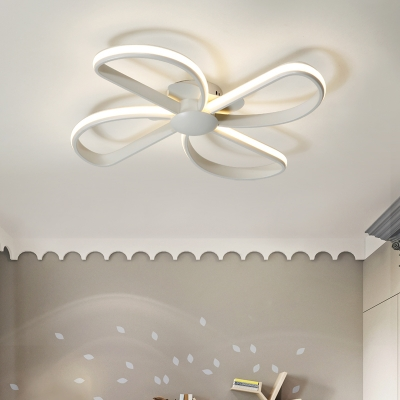 Small Size Kids Room Led Ceiling Light in Hollow Windmill Shape