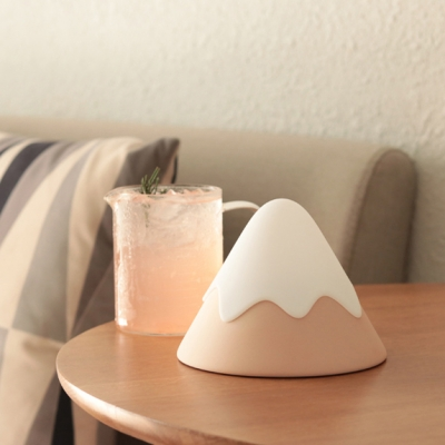 Snowy Mountain Shape Silicon Gel Baby Kids LED Night Light in Gray/Green/Pink