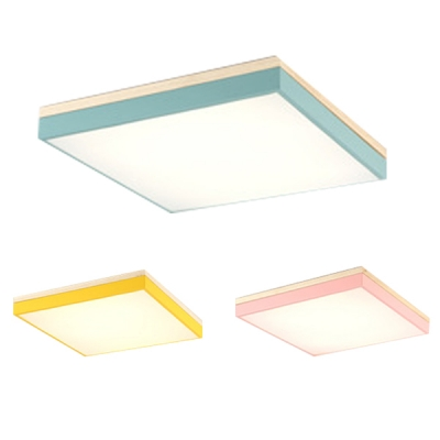 Metallic Ultra Thin Flush Mount Colorful Simple Sitting Room LED Flush Ceiling Light in Warm/White