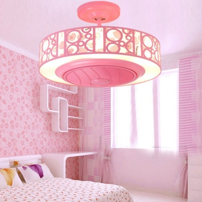 ... Bladeless LED Kids Room Ceiling Fan With Light In Blue/Pink ...