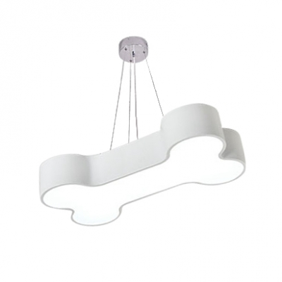 Adorable Bone Shape Hanging Lamp Nursing Room Acrylic LED Pendant Light in White/Third Gear