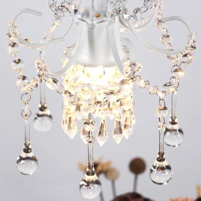 French Chandelier 1 Light Crystal Balls Hanging Pendant Light Dining Room Pendant