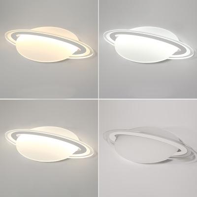 Globe Boys Room LED Flush Ceiling Lamp White/Warm Light