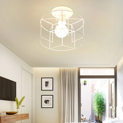 Hollow Metal Star/Cylinder/Flower Frame Ceiling Light 3 Types Available