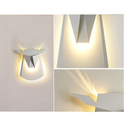 Nordic Style Deer Shade Wall Lighting in White