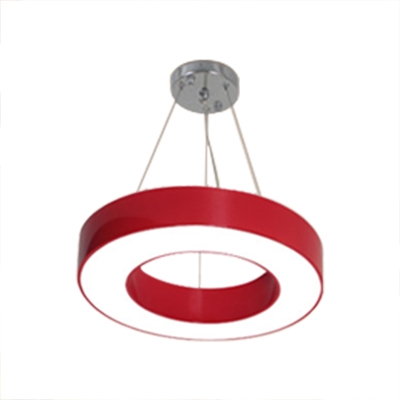 O Shape Suspended Lamp Letters&Numbers Colorful Foyer Kids Room Acrylic Pendant Light in Warm/White